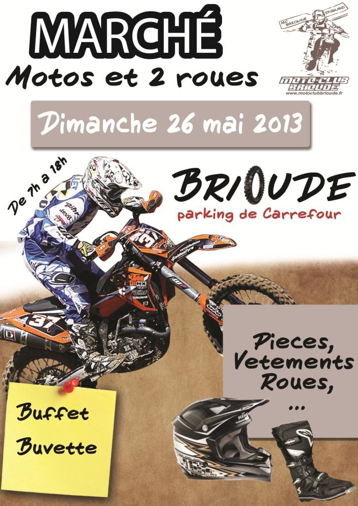 Affiche marché moto 2013 a