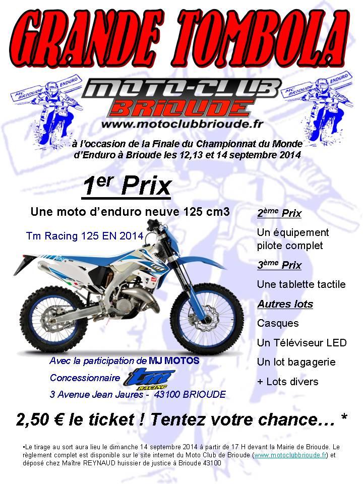 Affiche Tombola MC Brioude 2014c